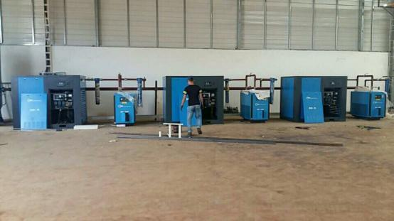 The Installation Of Shanghai Rotorcomp 100hp Screw Air