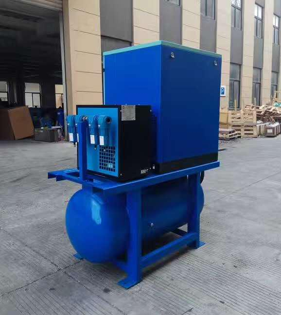 Shipping small integrated 15HP compressor