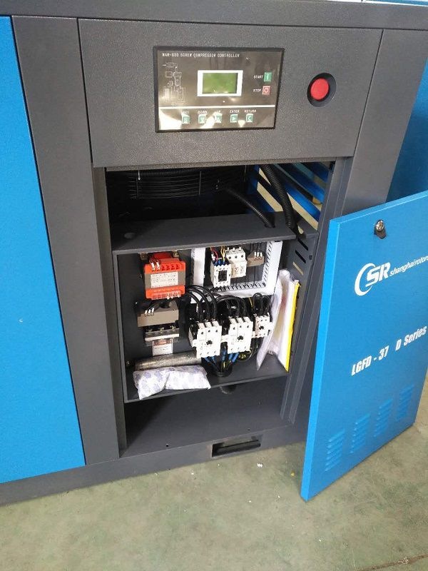 Shipping 50HP high efficient direct driven screw compressor system 3